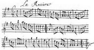 """Partition de """"La Rosière"""""""